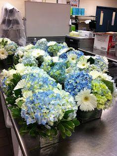 baby shower flower arrangement: boy theme