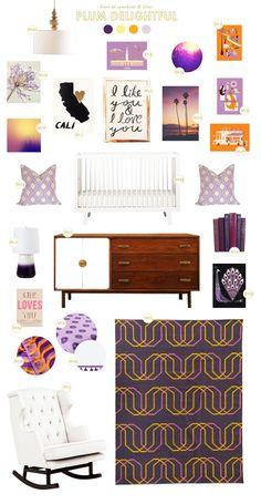 plum delightful nursery design board