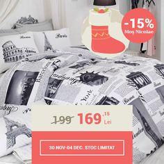Lenjerie de pat din bumbac Valentini Bianco VKR10 Paris (-15%)