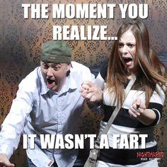 UH OH... #FEARmeme #FEARpic #NFF #Nightmares #Fear #Factory #Halloween #HauntedHouse #Funny #Meme #NiagaraFalls