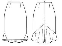 Falda. How to draft a back flounce for pencil skirts… | Seam-ingly Sensational Sewing