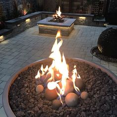 Double trouble at the showroom! Log Fires, Fire Glass, Outdoor Living, Outdoor Decor, Double Trouble, Fire Pits, Logs, Cannon, Showroom