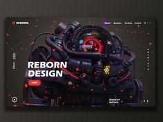 Reborn-design team designed by Bad Taste. for Reborn Design. Connect with them on Dribbble; Web Ui Design, Design Blog, Page Design, Website Design Inspiration, Graphic Design Inspiration, Interface Design, User Interface, Web Layout, Layout Design