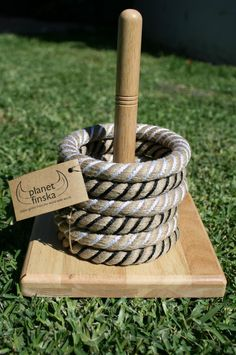 Planet finska rope quoits throwing game diy bird feeder round up! Diy Yard Games, Diy Games, Backyard Games, Lawn Games, Backyard Ideas, Outdoor Toys, Outdoor Games, Outdoor Parties, Outdoor Fun