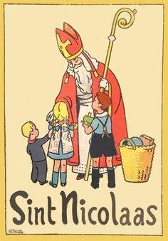 Oud boek : Sint Nicolaas (Met PhotoFiltre gerestaureerd)