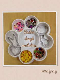 Easter theme dough invitation in my class. Easter Play, Easter Eggs, Easter Activities, Spring Activities, Easter Crafts, Crafts For Kids, Festival Celebration, Spring Theme, Play Dough