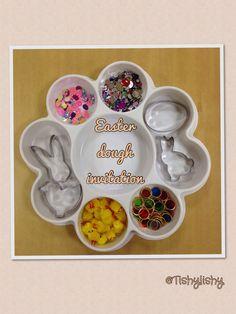 Easter theme dough invitation in my FS2 class.
