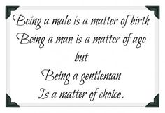 Alas few men in my surrounding are willing to make this choice *yep, feeling blue*