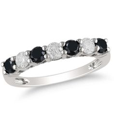 Black and white diamond #wedding #band.. would go with my engagement ring :)
