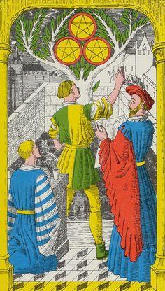 Three of Pentacles - Royal Fez Moroccan Tarot