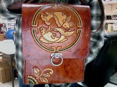Leather Purse / Hand Carved and Tooled / Custom / by Delosleather