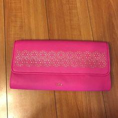 Ralph Lauren clutch Very classy Ralph Lauren clutch in hot pink with gold Ralph Lauren Bags Clutches & Wristlets
