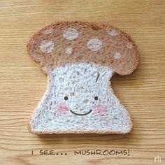 Cute mushroom bread