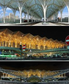 Lisbon's Oriente Station by Santiago Calatrava is a dazzling example of mathematically inspired architecture. Calatrava is known for designs that are often rooted in natural patterns and forms, particularly sea life and birds.