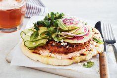Mediterranean Chicken Pita Burgers