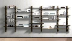 Shark wall-unit with shelves of different lengths