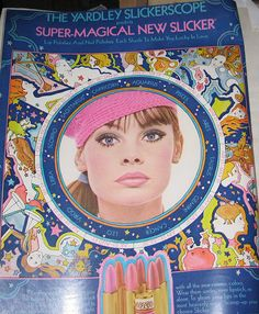 Yardley Slickerscope  Jean Shrimpton  Yardley Ad  Seventeen late 60s
