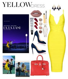 """La La Land ✨💃🏽"" by dollarbabies ❤ liked on Polyvore featuring Christian Louboutin, Marte Frisnes, Hermès, Lime Crime, Ellis Faas, Terre Mère, Victoria's Secret and Stila"