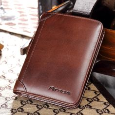 Only US$22.99 shop men genuine leather rfid blocking secure tri-fold wallet at Banggood.com. Buy fashion wallets online. - Banggood Mobile