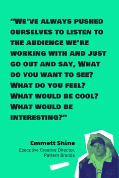 Emmett Shine's secret to success: always listen to your audience, no matter what! 🦻❤️  Listen to the entire Pattern Brands story on our latest podcast series, Breaking Brand. 👆 🎧 What Do You Feel, Market Value, Company News, Brand Story, Secret To Success, Launch Party, Tough Times, Listening To You, To Focus