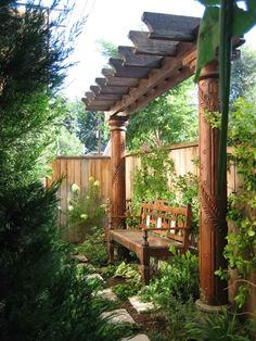 Nice arbor. The height of the columns helps to uplift the Ch'i in this area.