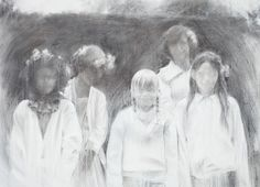 "Saatchi Art Artist: Miquel Wert; Charcoal 2009 Painting ""Presences of May"""