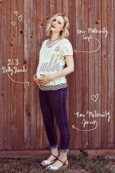 DIY Clothes Maternity Refashion :  DIY: Make A Belly Band