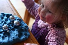 Daisy Chains: Blue Play Dough