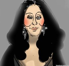 Cher animationed caricatures | Celebrity Caricatures in Animated GIF Form (31 gifs)