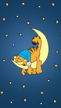 Sleeping on the moon Garfield Garfield Cartoon, Garfield And Odie, Garfield Comics, Disney Wallpaper, Cartoon Wallpaper, Les Looney Tunes, Cute Wallpapers, Wallpaper Backgrounds, Garfield Wallpaper