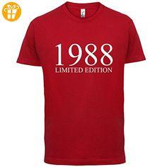 1988 Limierte Auflage / Limited Edition - 29. Geburtstag - Herren T-Shirt - Rot - XXL (*Partner-Link)