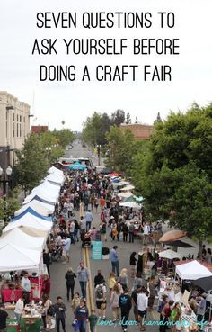 Seven questions to ask yourself before doing a craft fair - Dear Handmade Life