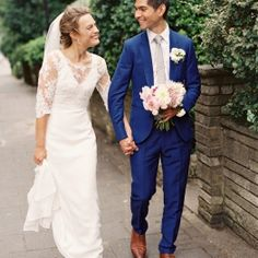 Moody Berry & Blue Wedding Inspiration | Party suits, Wedding and ...
