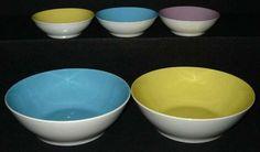 Lilienporzellan 13cm innenfärbige Schüssel, Daisy, pro Stück 115,-- Retro, Tableware, Kitchen, Color, Dinnerware, Cuisine, Colour, Neo Traditional, Dishes