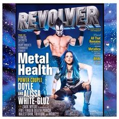 #Metal #Queen @alissawhitegluz on the cover of #RevolverMagazine, with her lover, @doylewvf. <3 <3 <3 She is wearing our hair color in #RockabillyBlue.