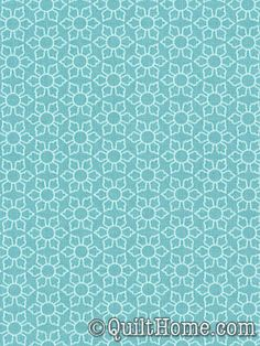 Delighted! C2664-Blue Fabric by The Quilted Fish.