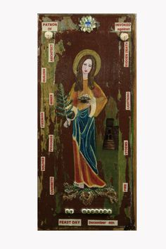 Patroness of Architects, Builders, Firemen, Soldiers, Gunsmiths