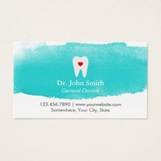 294 best dentist business cards images on pinterest in 2018 dental appointment tooth heart watercolor dentist colourmoves