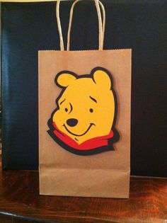 Your place to buy and sell all things handmade Winne The Pooh, Winnie The Pooh Birthday, Goodie Bags, Treat Bags, 3rd Birthday, Birthday Ideas, Paper Bags, Gabriel, Shower Ideas