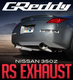 """The GReddy Revolution RS exhaust system for the Nissan 350Z is ideal for turbocharged VQ35s but also makes great power for normally aspirated applications. The full dual 3"""" Y-back, cat-back exhaust..."""