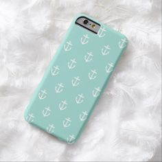 It's a cool iPhone 6 Case! This Mint Cute Anchor Pattern iPhone 6 Case is ready to be personalized or purchased as is. It's a perfect gift for you or your friends.