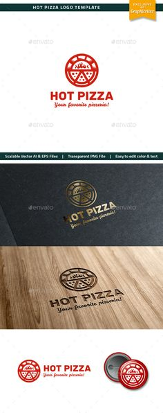 Hot Pizza Logo - Objects Logo Templates