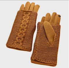 COZY KNITTED TOUCH SCREEN DOUBLE LAYER GLOVES | Style - Accessories on ArtFire