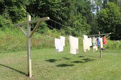 Art and Home: How to make an outside clothes line