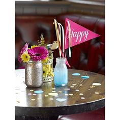 Table Throwing Confetti  - multi-coloured (Talking Tables)
