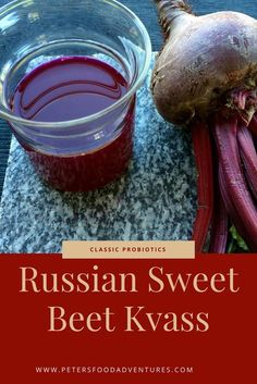 Russian Beet Kvass (Свекольный квас) is a Russian probiotic drink made with fermented beets, taken like a tonic. An authentic Russian recipe full of nutrients and vitamins with amazing immune boosting properties. Ukrainian Recipes, Russian Recipes, Ukrainian Food, A Food, Good Food, Yummy Food, Yummy Eats, Beet Kvass, Unique Recipes
