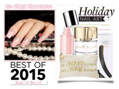 #224 Best of 2015: Glitter Baby Pink Nails by pinky-chocolatte on Polyvore featuring polyvore beauty Lipsy Miss Selfridge Smith & Cult White Label