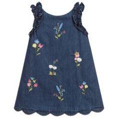 Mayoral - Embroidered Chambray Dress   Childrensalon