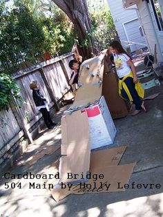 504 Main by Holly Lefevre: Kids and Cardboard: Cheap and Easy Fun!