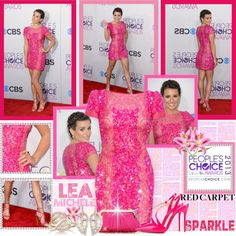 """Lea Michele Wearing Elie Saab Dress on Red Carpet @ 2013 People's Choice Awards"" by shazgoldcoast ❤ liked on Polyvore"
